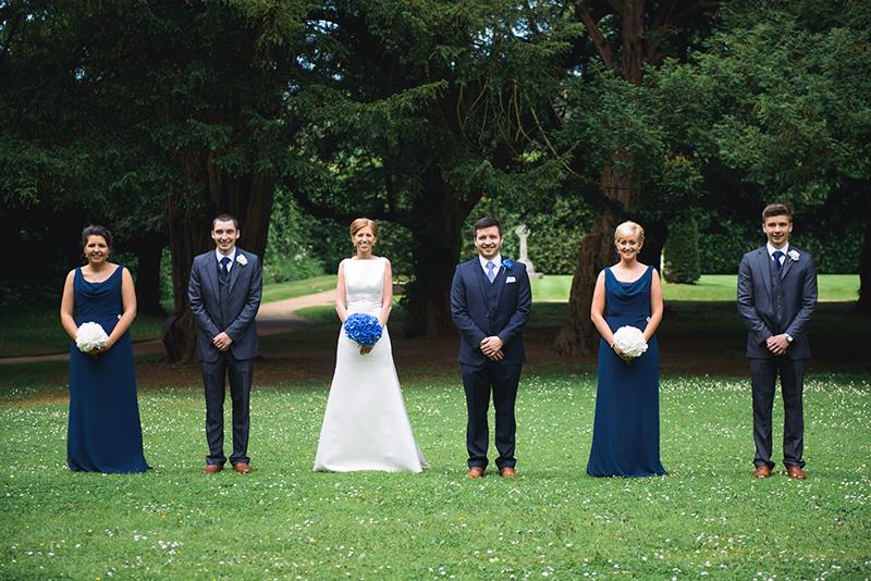 Classic blue & white wedding