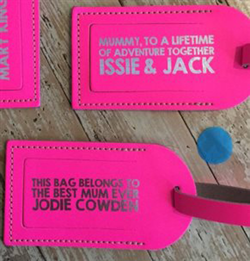 Personalised leather luggage tags 1