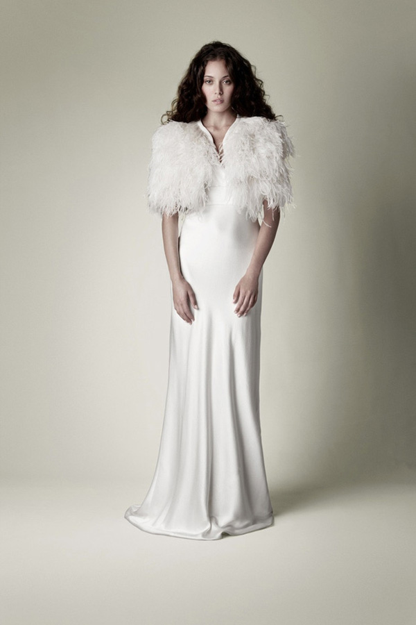 The big cover up winter bridal capes getting married in for Wedding dress with ostrich feathers