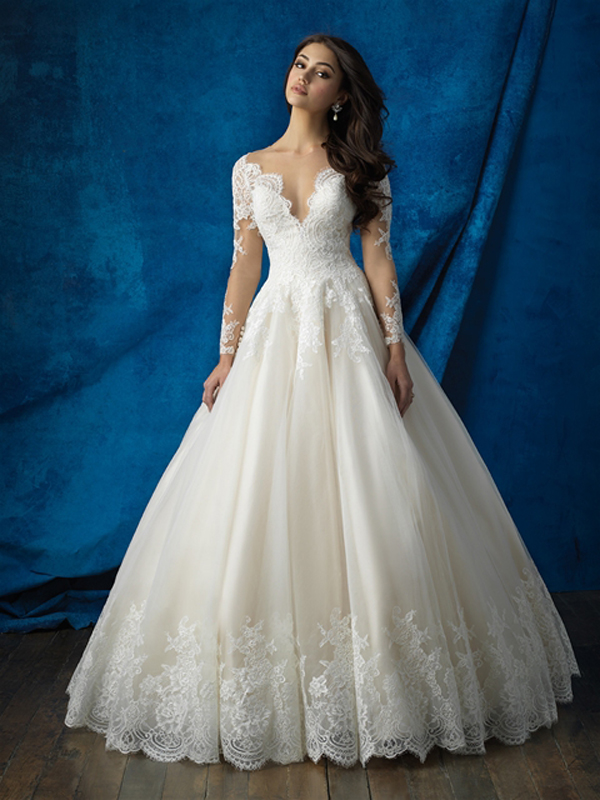 b. Lace Perfection in Style 9366, from Allure Bridals